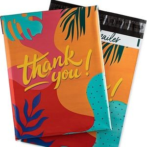 Colourful Thank You PolyMailers 10X13 (10 Pack)